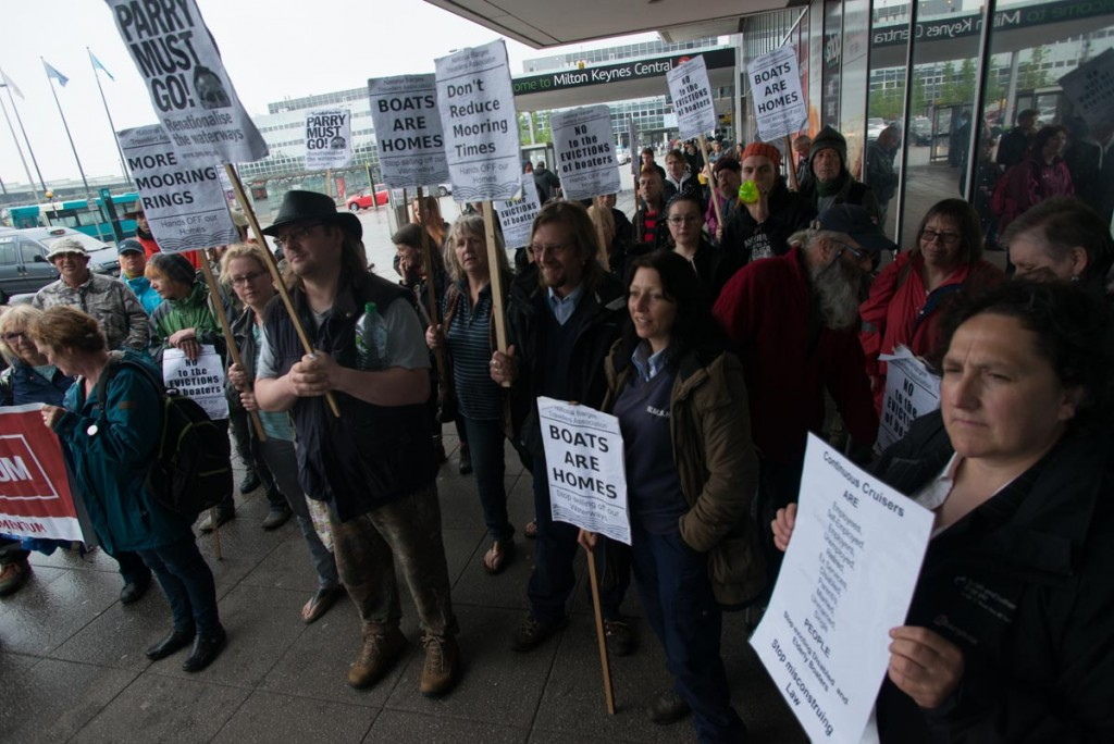 The protest at CRT's Milton Keynes headquarters