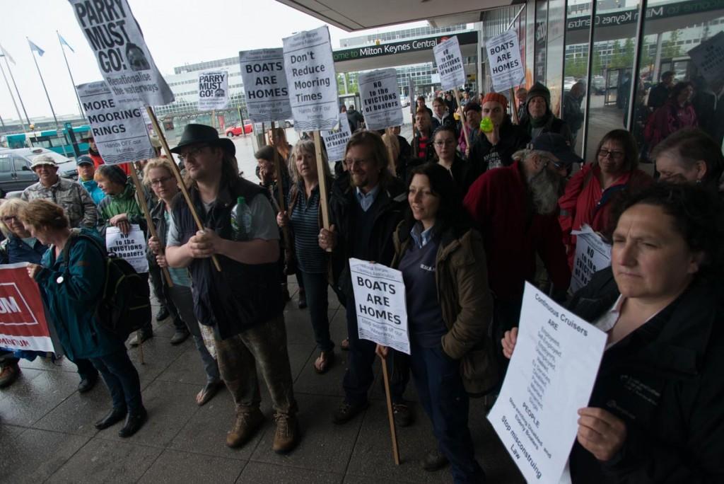 The protest at CRT's Milton Keynes headquarters